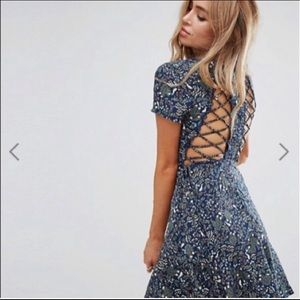 Gorgeous ASOS floral lace up dress